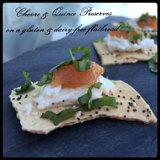 Chevre & Quince Preserves on GF Flatbread