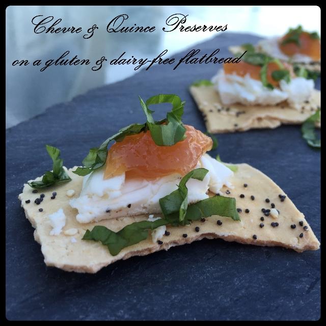 Chevre & Quince Preserves Hors d' Ouerves