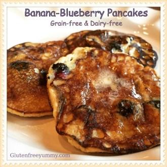 Banana-Blueberry Pancakes (Grain & Dairy-free)