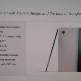 HTC Nexus 9 Produktseite