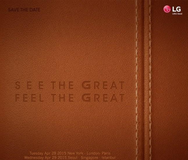 LG G4 Einladung