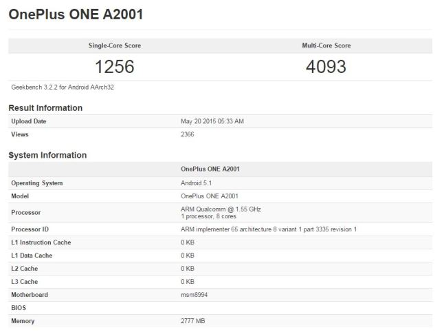 OnePlus Two GeekBench