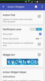 Xposed Modul Action Widgets