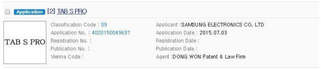Samsung Galaxy Tab S Pro