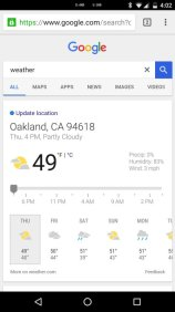 Google Now Wetter