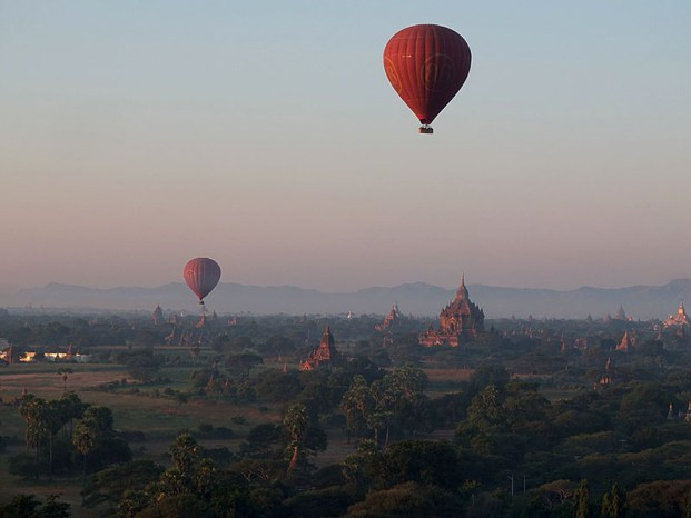 Balloons in Bagan, Myanmar