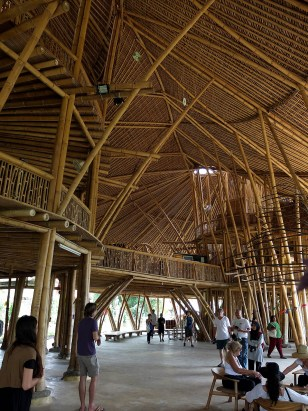 One of the fancy bamboo structures in theh Green Camp