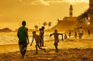 Beach football in Salvador de Bahia, Brazil. Courtesy: Andreas Zopf