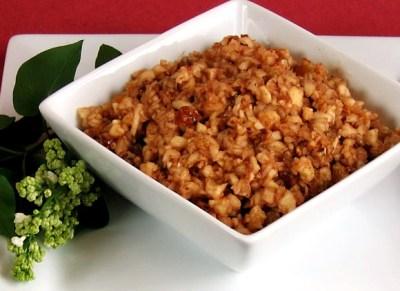 Apple-Pecan Vegan Haroset Recipe for Passover - Go Dairy Free