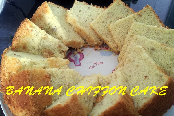 Paleo Banana Chiffon Cake