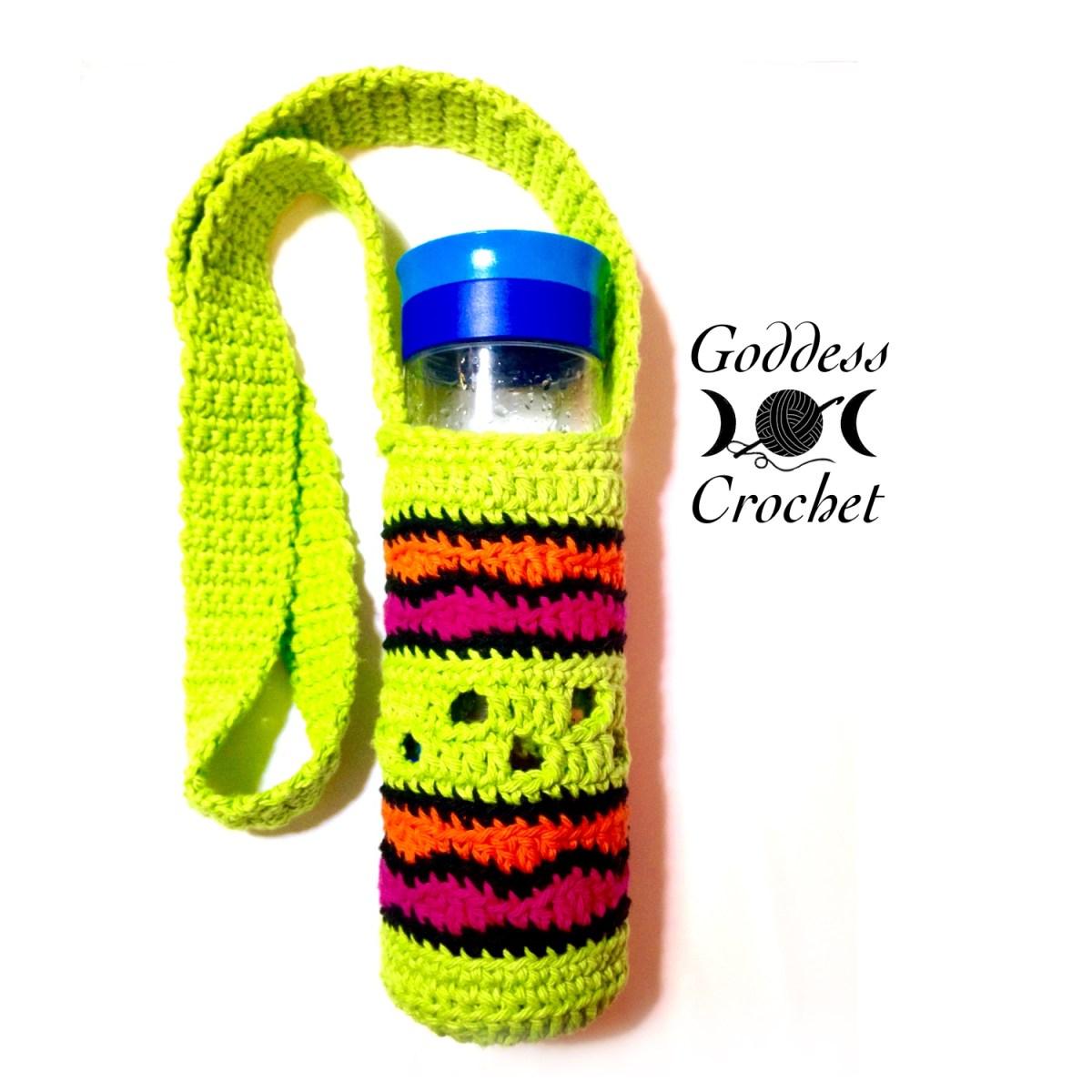 ?Making Waves?   Water Bottle Holder   Free Crochet Pattern   Goddess Crochet