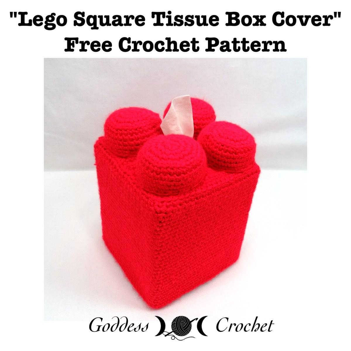Free Crochet Pattern Square Lego Tissue Box Cover