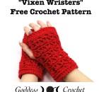 Vixen Wristers - Free Crochet Pattern