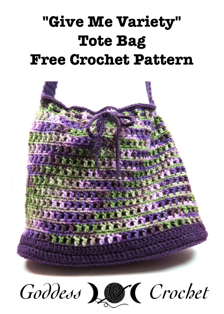 Crochet Boho Bag Pattern : ?Give Me Variety? Market Bag ? Free Crochet Pattern ...
