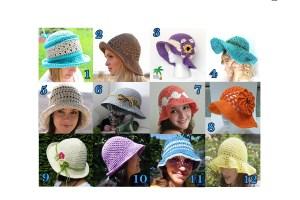 Summer Hats - Free Crochet Pattern Round Up
