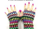Scrap Buster Fingerless Gloves - Free Crochet Pattern