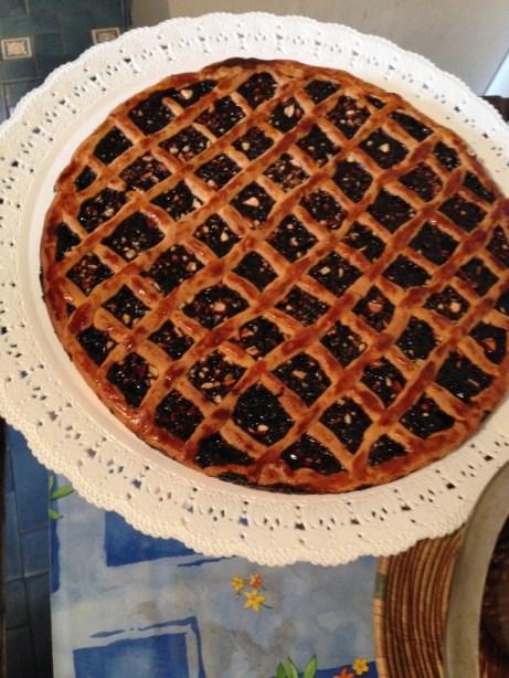 elderberry crostata