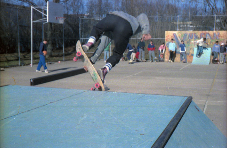 Someone I don't know with a nosepick on the box at Lutherville.