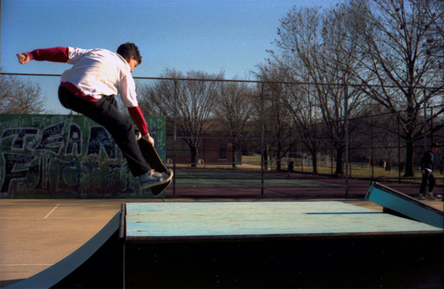 Jeff B at Lutherville when the metal ramps were brand new.  I don't know if this was just super tweaked or a 180.