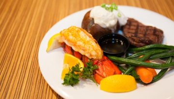 Steak and Lobster at the Golden Grill at Golden Acorn Casino