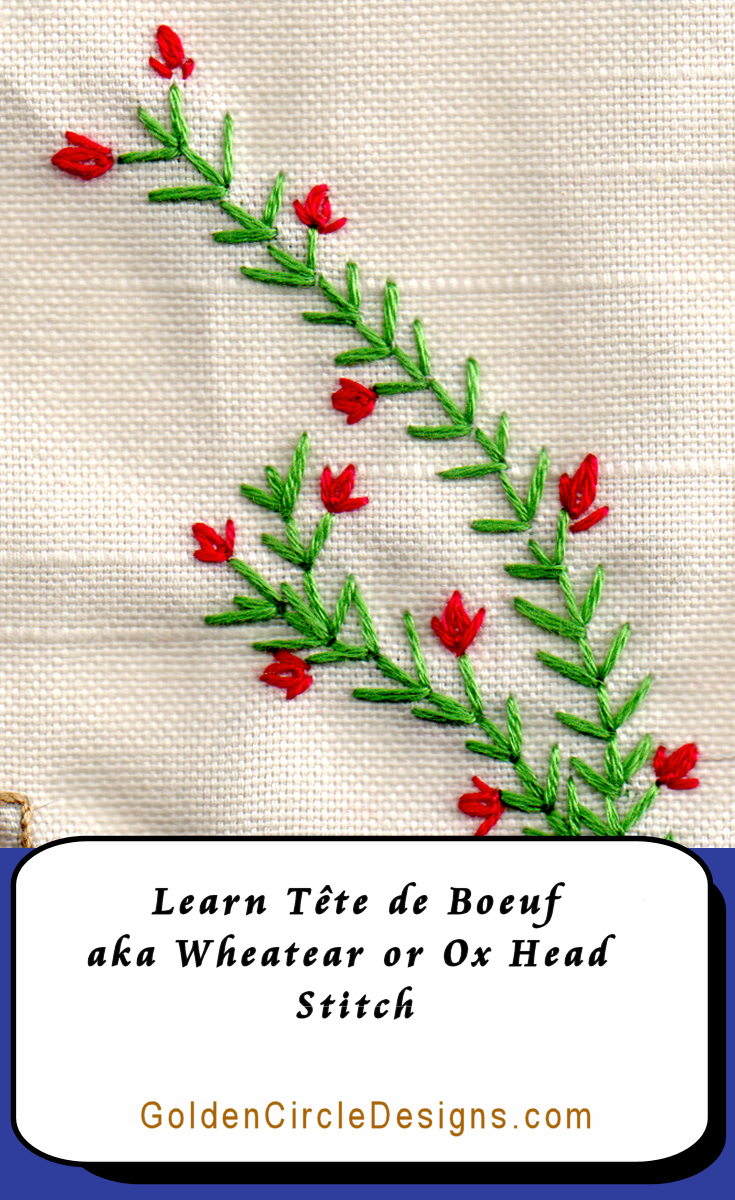 Learn Oxhead stitch for an effective small motif or light filling!