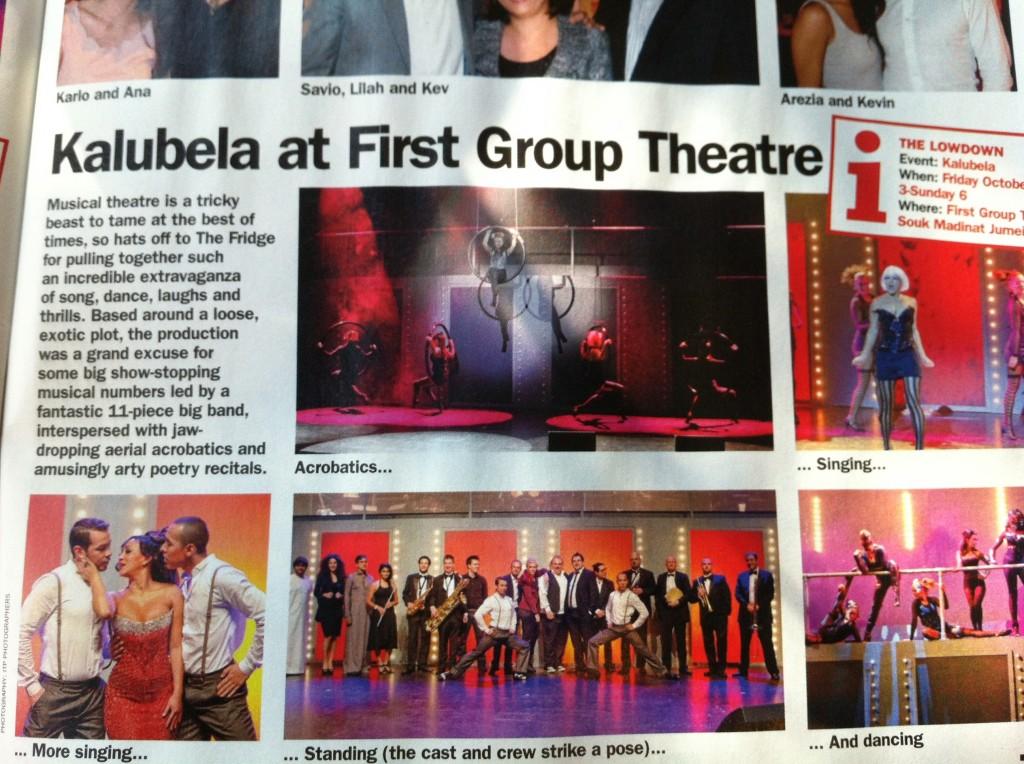 KALUBELA Time Out Review 2012, Dubai