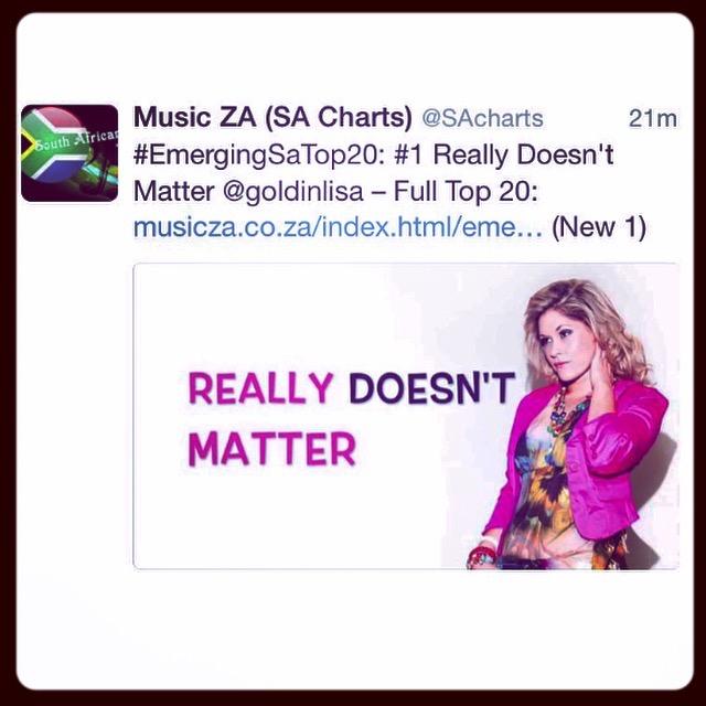 Lisa Goldin No1 Emerging South Africa Top 20 Artist