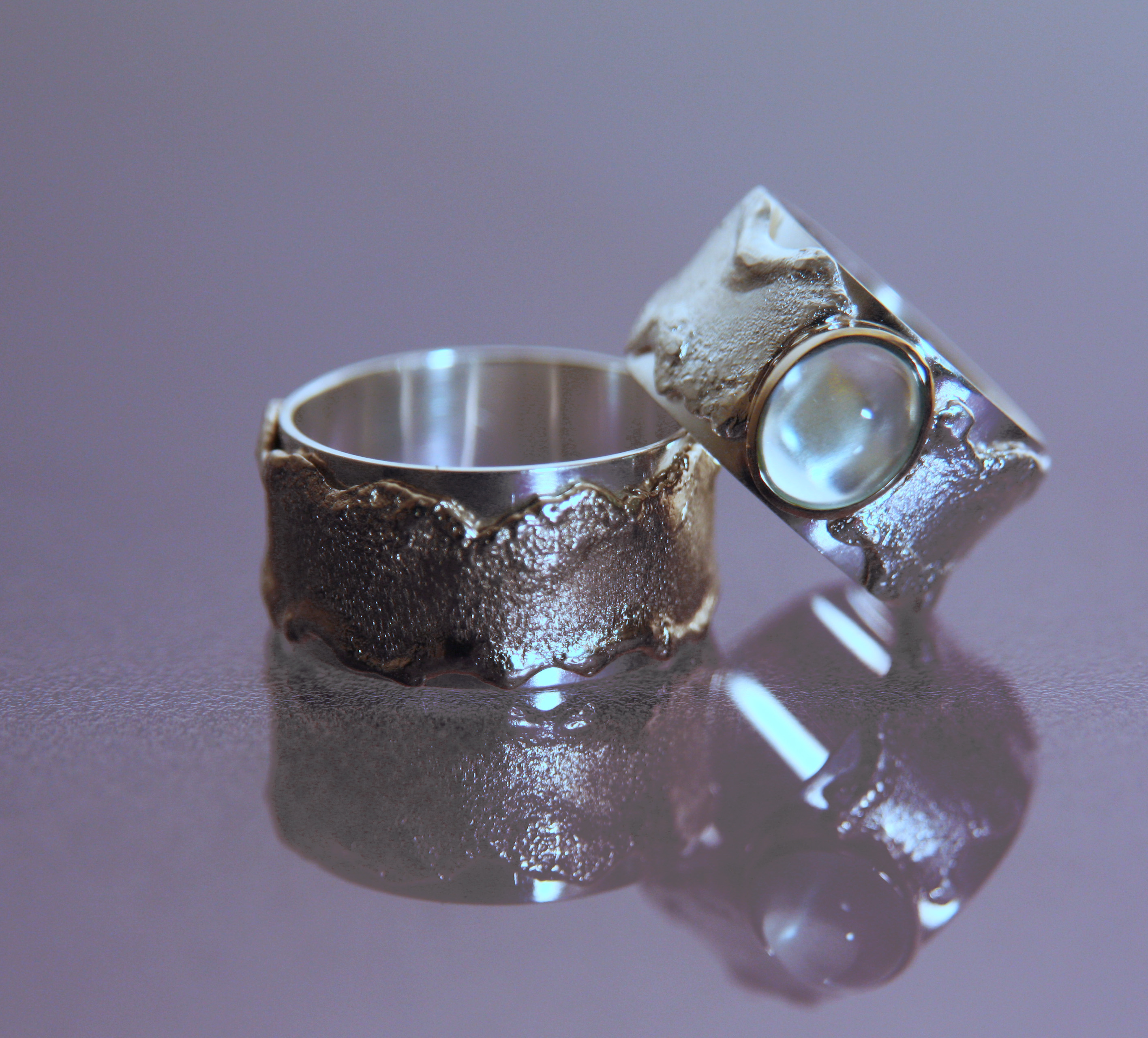 page id moonstone wedding rings silver and welded white gold wedding bands with moonstone cabochon