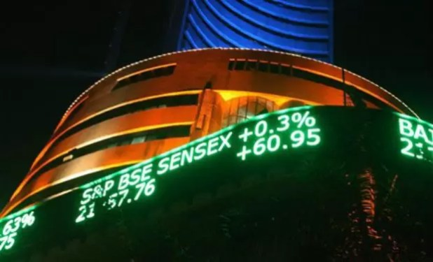 Sensex Ends Day at 18-Month High