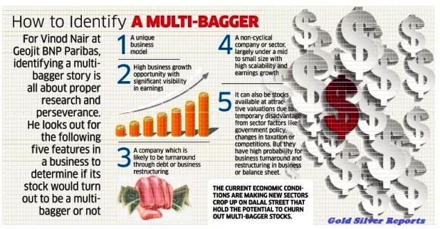 Multi-baggers are the Gold in Your Stock Chest