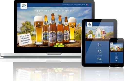 Webseitenumsetzung Neumarkter Glossnerbräu