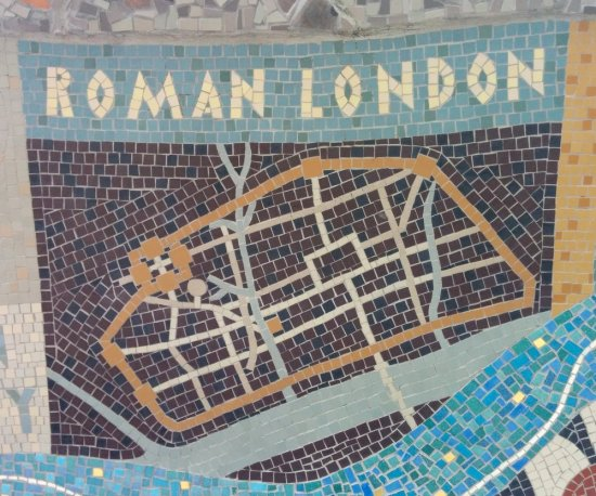 Map of Roman London on Queenhithe mosaic