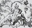 J. E. Nilson - Fajčiaci Turek. 1750.  Fajčenie fajky, pri ktorej je fajka položená na zemi. (Podla Holčík 1984).