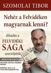 Szomolai Tibor Bátkában tart előadást