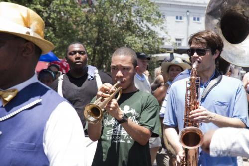 Don't miss the Satchmo Summerfest opening day second line on Friday, August 1, 2014. Photo by Zack Smith, from fqfi.org.