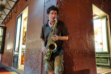 Royal Street Saxophone Street Musician