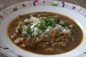 Chicken and Andouille gumbo recipe from New Orleans chef Paul Prudhomme