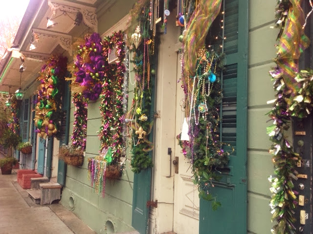 All Dolled Up In Purple Green And Gold Mardi Gras Decor
