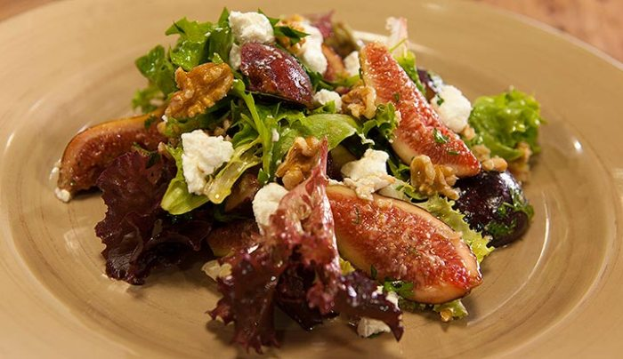 Fig, Goat's Cheese and Walnut Salad - Good Chef Bad Chef