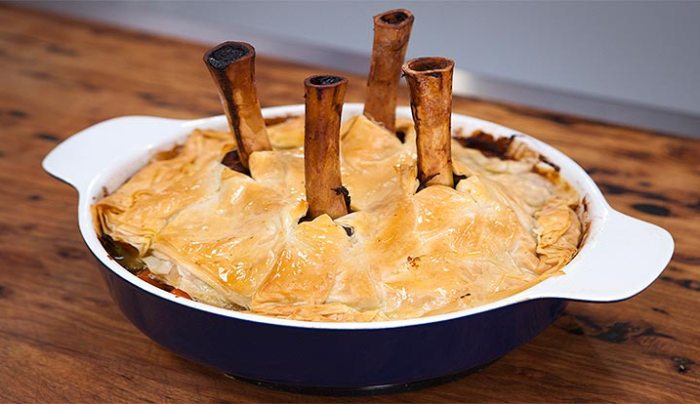 Lamb Shank Pie - Good Chef Bad Chef