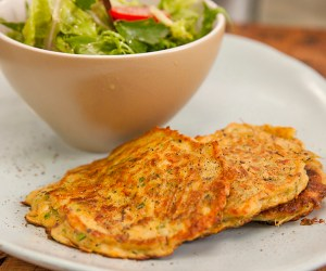 Vegetable Haloumi Pancake