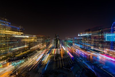 Time Lapse of the night in Dubai, United Arab Emirates ...