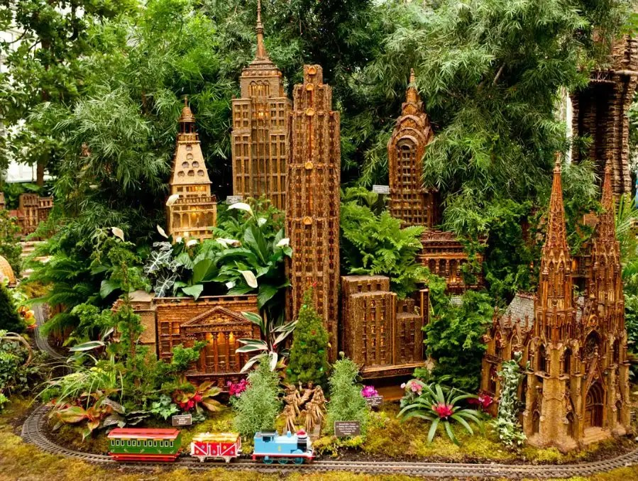 125th anniversary of the new york botanical garden holiday train show for Ny botanical gardens train show