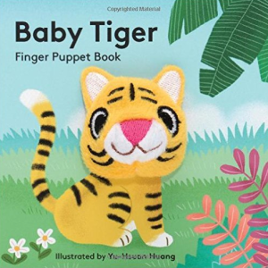 book cover of baby tiger finger puppet book