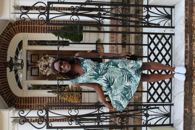 Palm Leaves Spring Dress// Goodtomicha.com