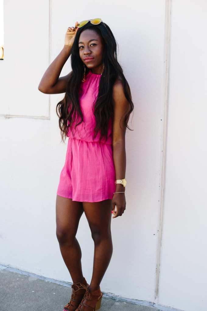 Pink Rompers for Summer on GoodTomiCha.com