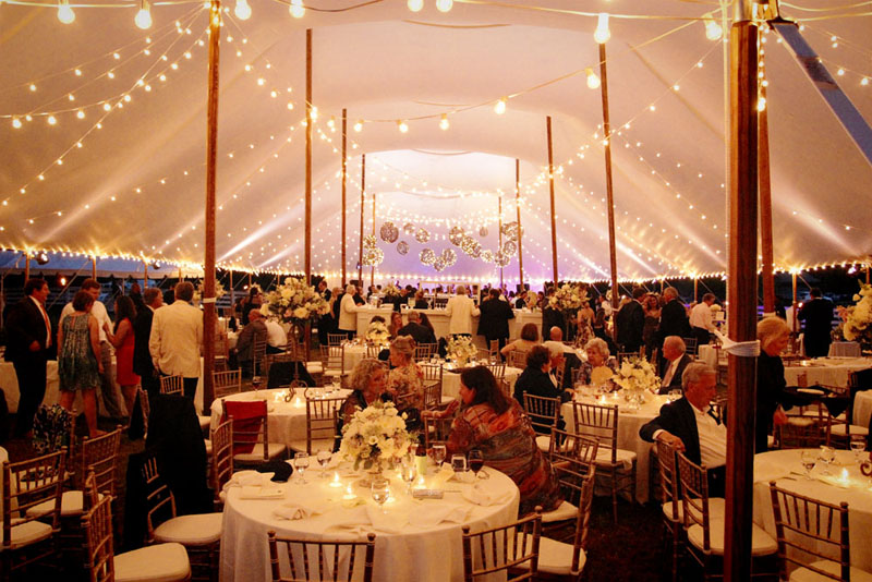 tent with cafe string lights in athens ga lighting ideas i