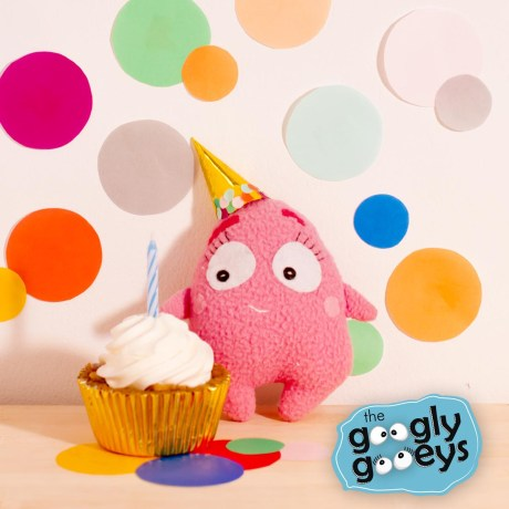 Tipsy's Burp Day with Paper Confetti & Cupcake