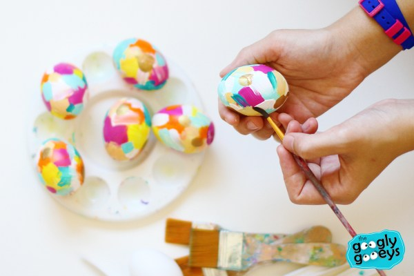 Painting on Easter Eggs