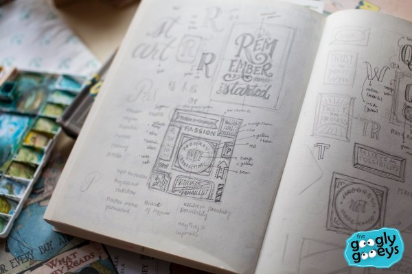 Abbey Sy Lettering Lay-outs in Pencil